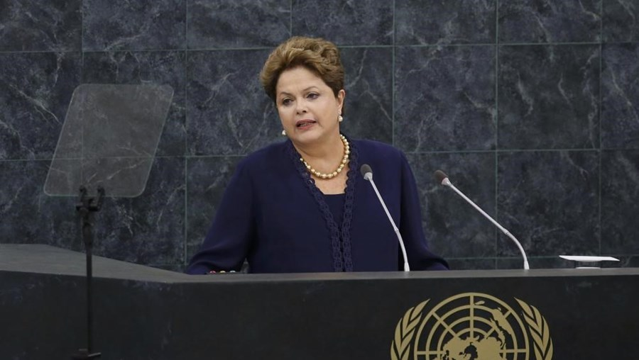 A Presidente do Brasil Dilma Rousseff