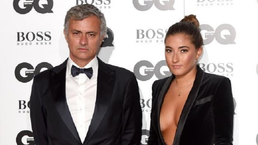 Mourinho acompanhou a filha, de 18 anos