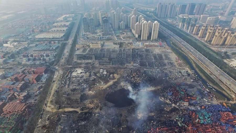 Explosões em Tianjin no mês de agosto causaram centenas de mortos