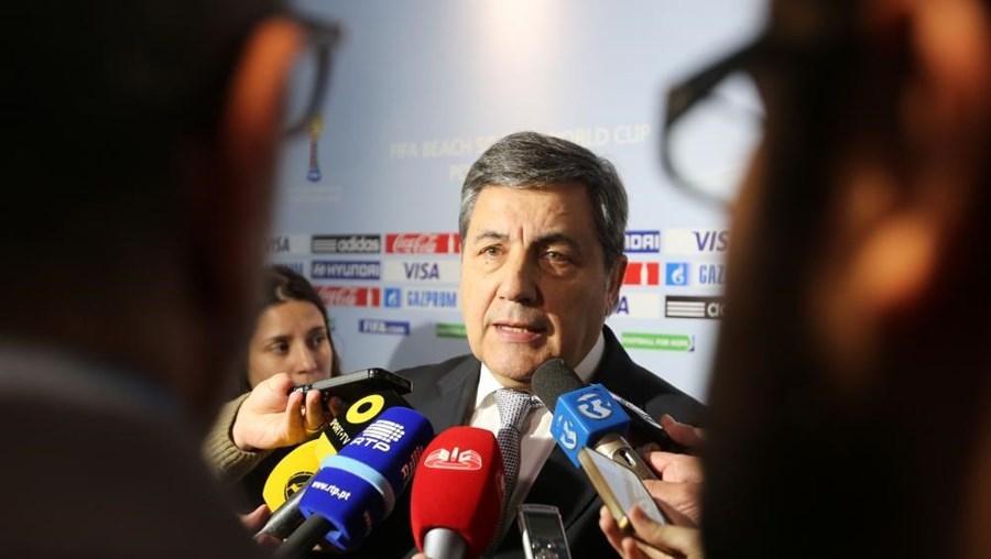 O presidente da Federação portuguesa de Futebol Fernando Gomes