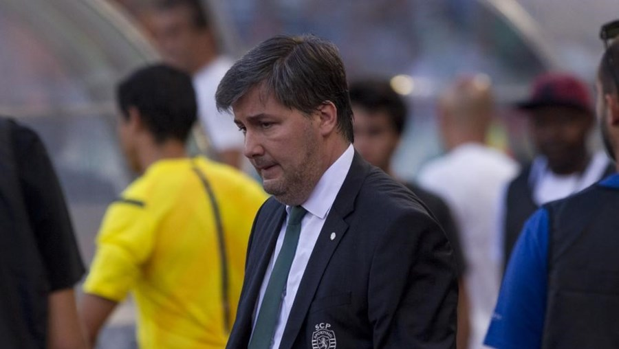 O presidente do Sporting Bruno de Carvalho