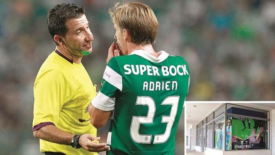 O árbitro Hugo Miguel, que dirigiu o Rio Ave -Sporting (1-2), na 4.ª jornada da Liga, é agente e tem uma loja, em Lisboa, da marca italiana que equipa os leões