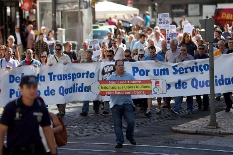 Protesto, Lisboa, trabalhadores, Metro de Lisboa, Carris, subconcessão, Fectrans, transportes
