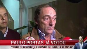 "Paulo Portas: ""Gosto de dar o exemplo"""
