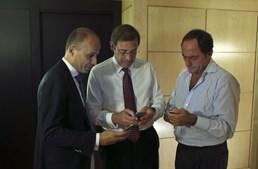 Pedro Mota Soares, Pedro Passos Coelho e Paulo Portas após o fecho das urnas