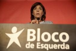 Catarina Martins discursa após o fecho das urnas
