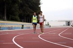 Ricardo Abreu (à esquerda) é o atleta guia que acompanha Nuno nas competições e nos treinos