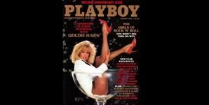 Janeiro de 1985: Goldie Hawn fez capa da Playboy num copo de pé-alto gigante. A atriz deu uma entrevista exclusiva sobre o filme 'Protocol'