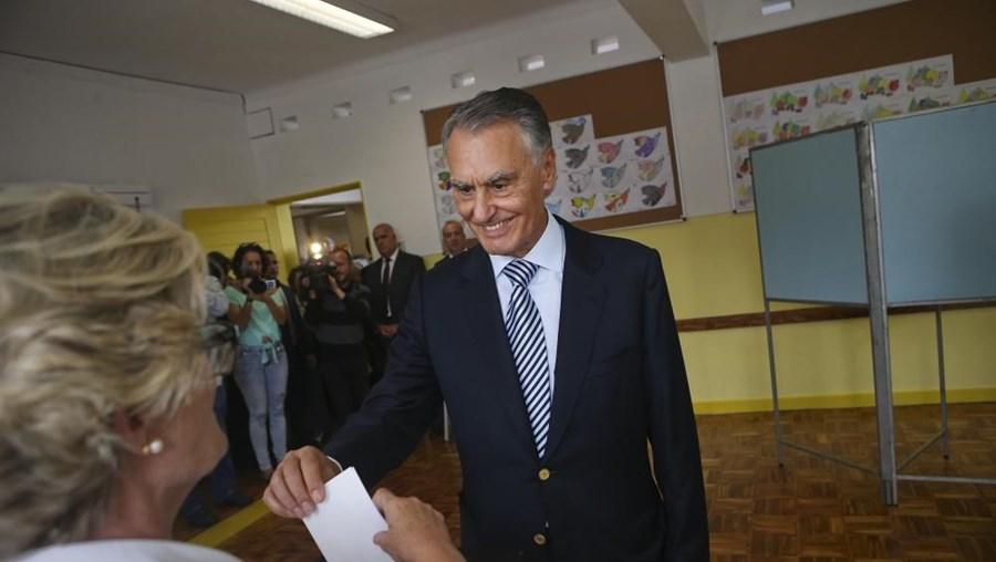Cavaco Silva no agrupamento de Escolas Padre Bartolomeu de Gusmão, em Lisboa