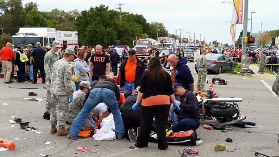 Imagem do acidente