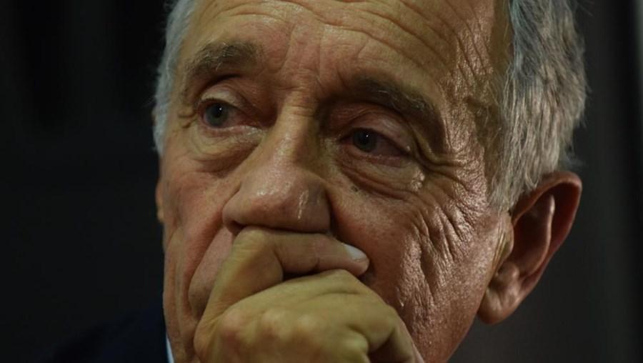 O candidato presidencial Marcelo Rebelo de Sousa