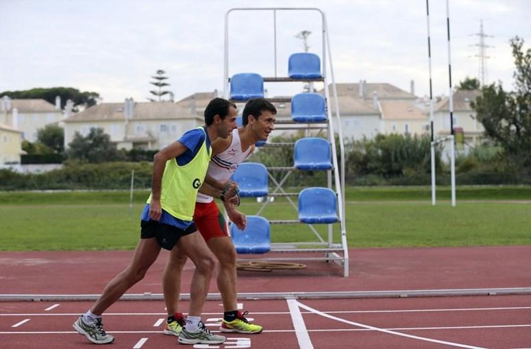Nuno Alves (de calções vermelhos) dedica-se ao Atletismo há mais de 20 anos