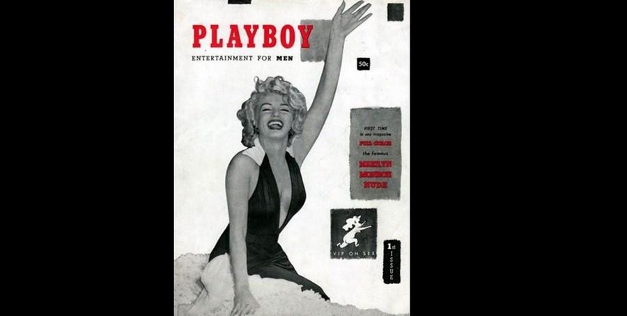 Dezembro de 1953: Marilyn Monrou foi capa da 1.ª edição da Playboy. A atriz não posou de propósito para a publicação, pelo que foram usadas as fotografias que Marilyn Monroe protagonizou nua para um calendário