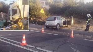 Choque frontal contra camião em Albufeira