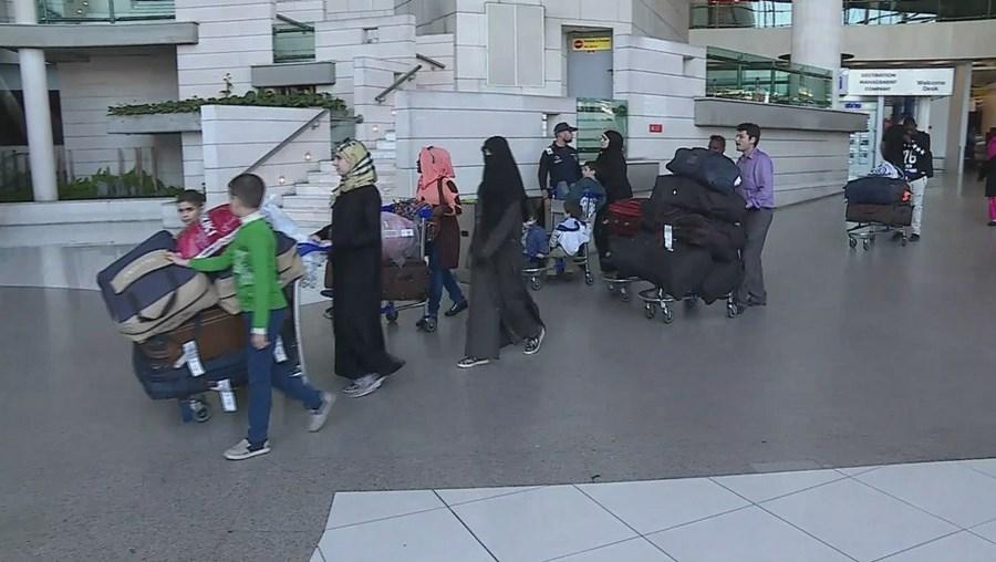 Refugiados no Aeroporto de Lisboa