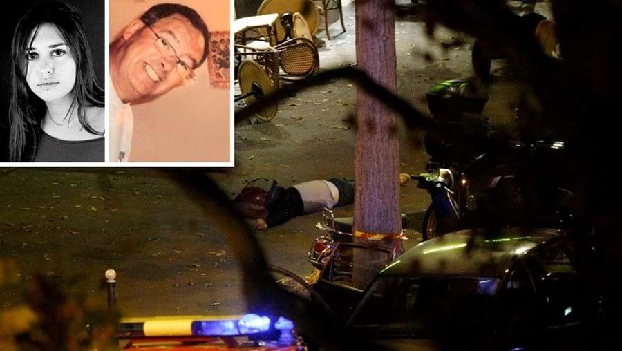 Précilia Correia, 35 anos, foi assassinada no Bataclan. Manuel Dias, de 63 anos, foi executado junto ao estádio