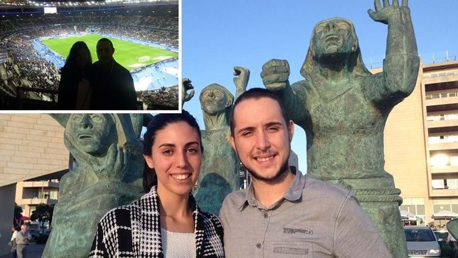 Daniela Fogageira e Bruno Arcos, de 22 anos, assistiam ao jogo no estádio de França no momento das explosões