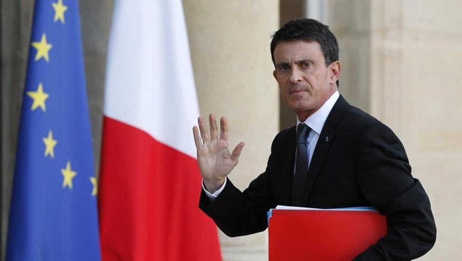 O primeiro-ministro francês Manuel Valls