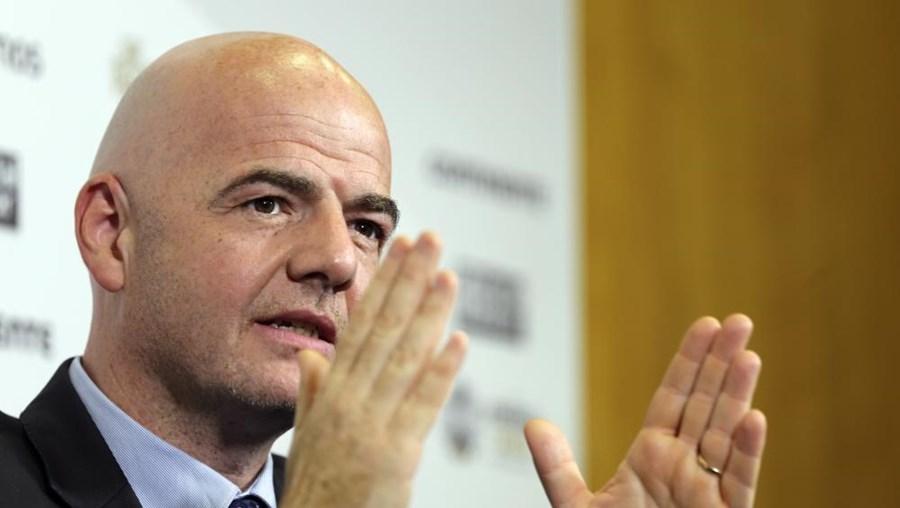 O secretário da UEFA, Gianni Infantino
