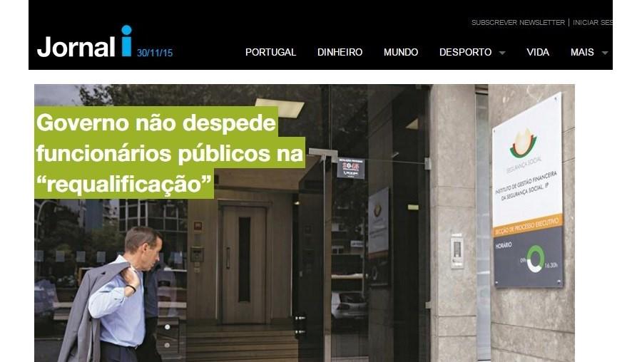 Site do jornal 'i'