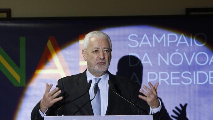 O candidato presidencial António Sampaio da Nóvoa.