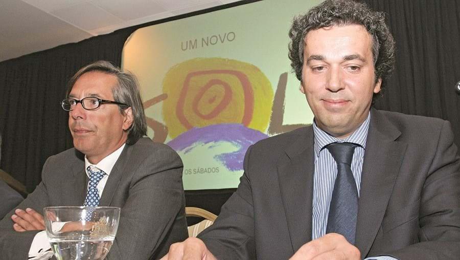 Mário Ramires (dir.), na foto com Paulo Azevedo, preside agora a Newsplex