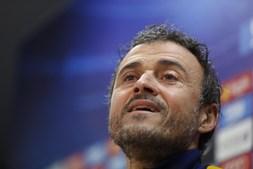 O treinador Luis Enrique