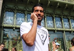 O antigo jogador do Benfica Ezequiel Garay