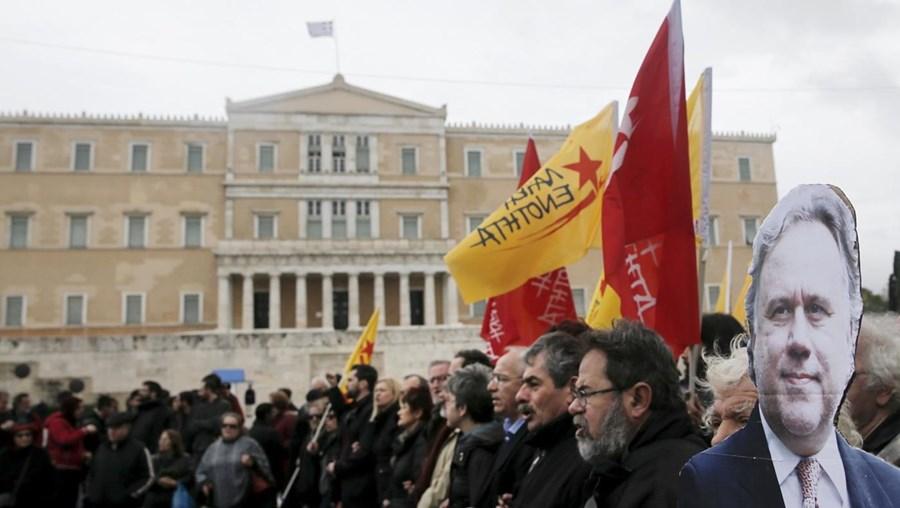 A marcha parou durante vários minutos em frente do Ministério do Trabalho