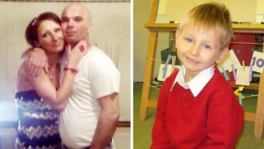 Na foto da esquerda, o padrasto Mariusz Krezolek e a mãe, Magdalena Luczak. À direita, Daniel Pelka, de quatro anos