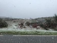 A neve surpreendeu em Fafe
