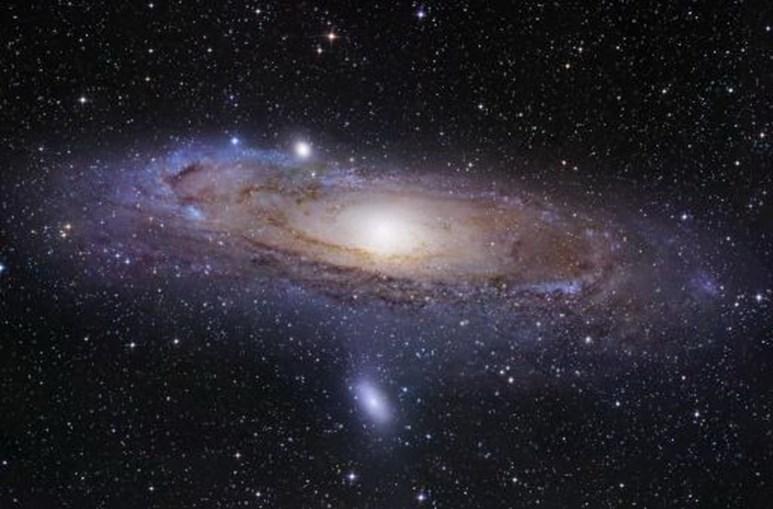 Imagem de satélite da galáxia Via Láctea