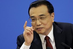 O primeiro-ministro chinês, Li Keqiang