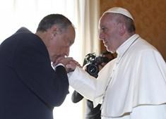 Marcelo esteve meia hora reunido a sós com o Papa