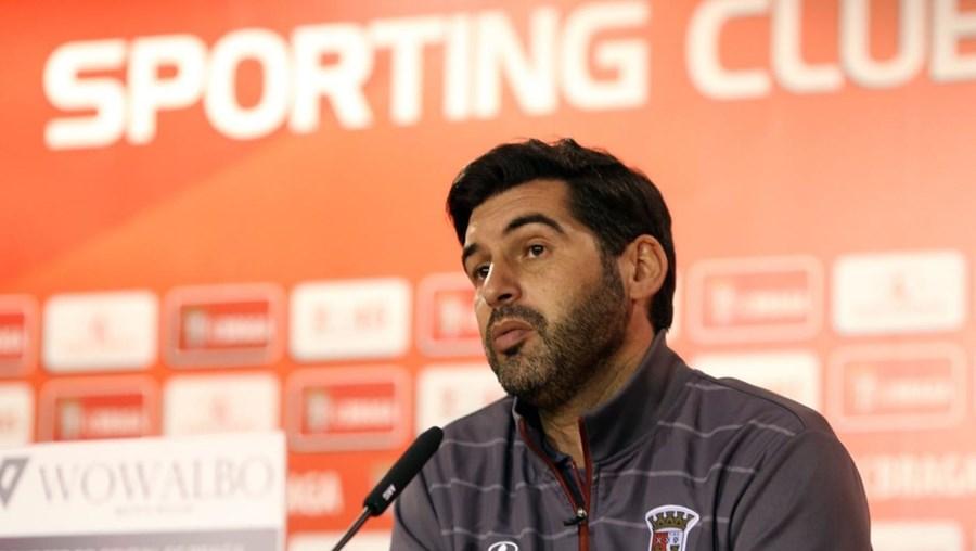 O treinador do Sporting de Braga Paulo Fonseca