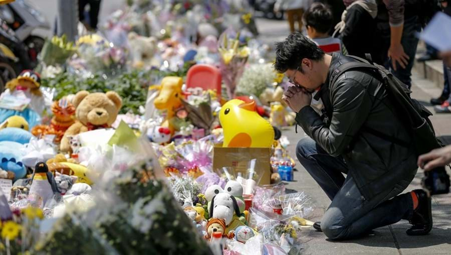 Homenagem à criança morta em Taiwan