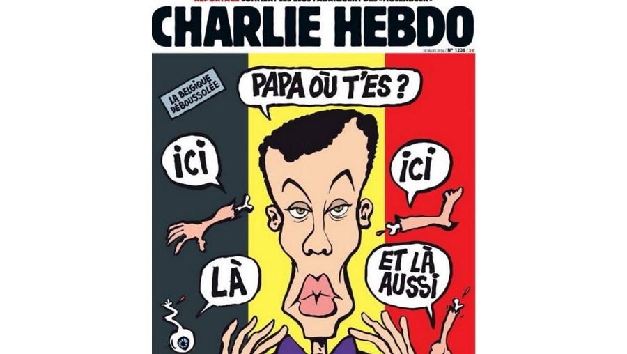 Uma das capas de Charlie Hebdo