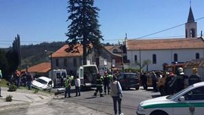 Veja as fotos do acidente no rali de Santo Tirso