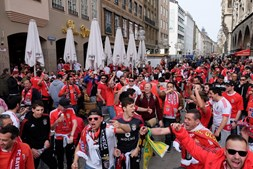 Benfiquistas em Munique