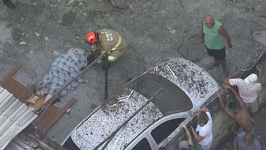 13 pessoas ficaram feridas na violenta explosão