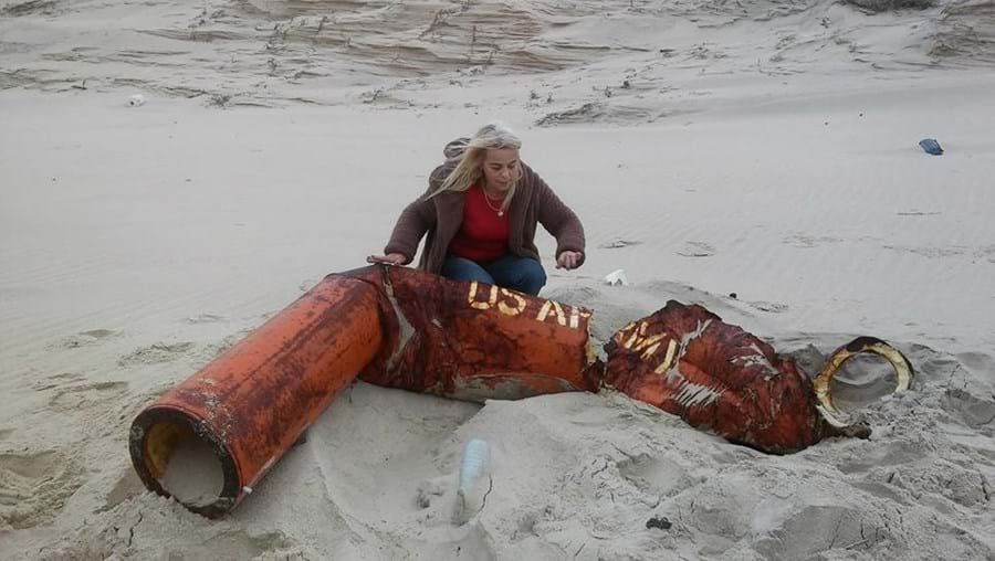 Margareth Garcia encontrou o flutuador de barco americano no último sábado