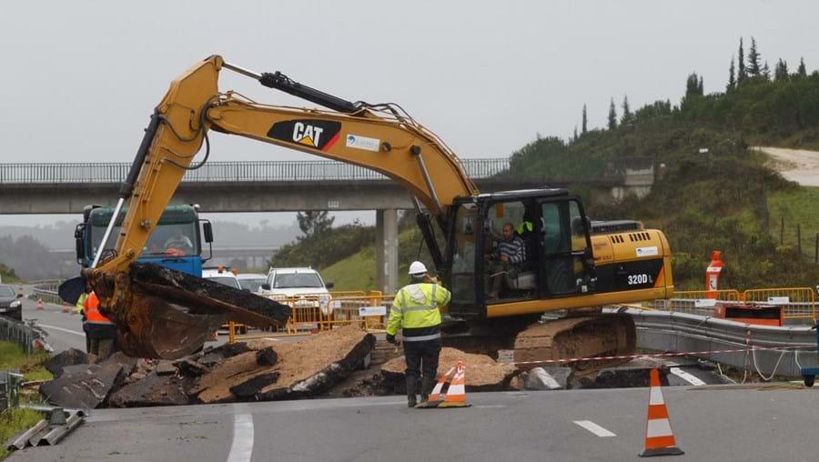 Obras começaram na A14 em ambos os sentidos