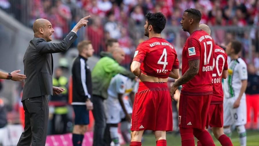 O Bayern Munique precisava de apenas mais uma vitória para conquistar o 26.º título de campeão alemão de futebol da sua história mas os bávaros foram travados em casa e empataram a um golo frente ao Borussia Moenchengladbach