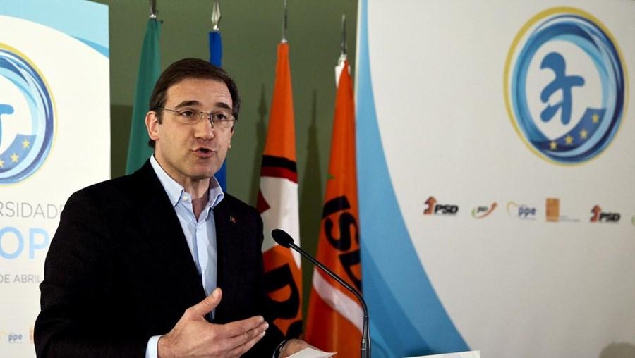O presidente do PSD Passos Coelho