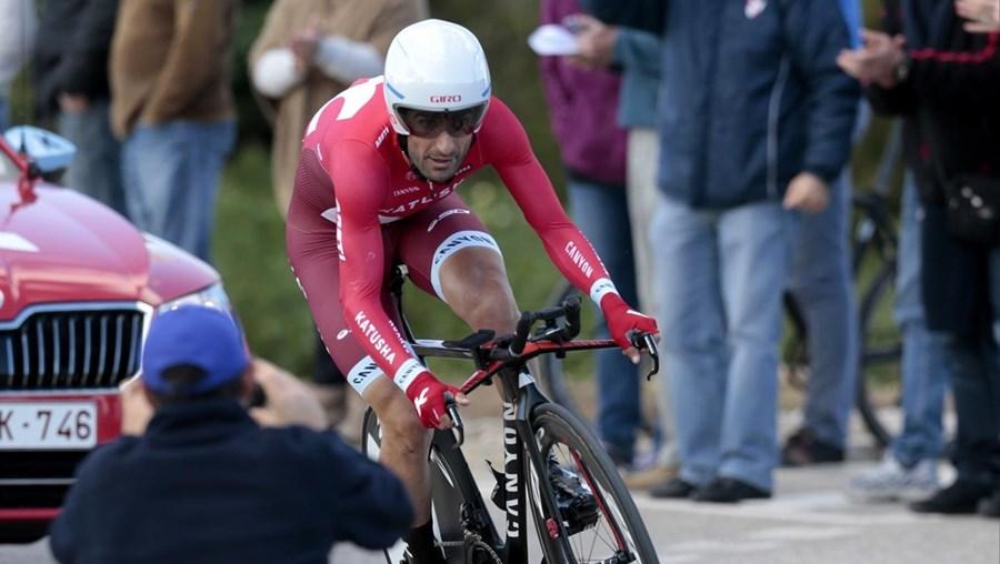 Tiago Machado abandonou a Volta a Yorkshire em bicicleta.