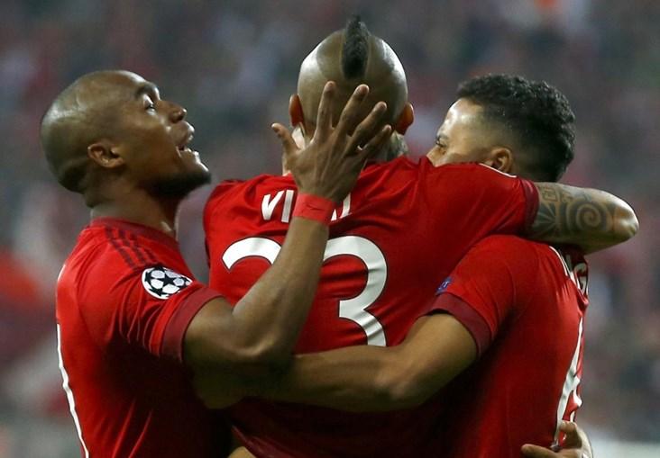 Vidal marcou o golo que deixa o Bayern na frente da eliminatória diante o Benfica
