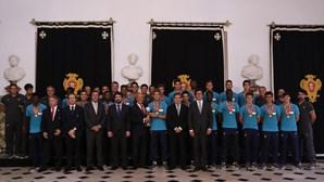 Campeões da Europa recebidos por Marcelo Rebelo de Sousa
