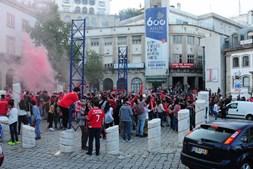 Adeptos do Benfica fazem a festa do 35º campeonato nacional na Covilhã