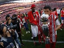 O treinador Rui Vitória sagrou-se, pela primeira vez na carreira, campeão nacional de futebol e festejou o título a preceito