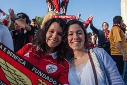 Adeptos do Benfica fazem a festa do 35º campeonato nacional em Beja